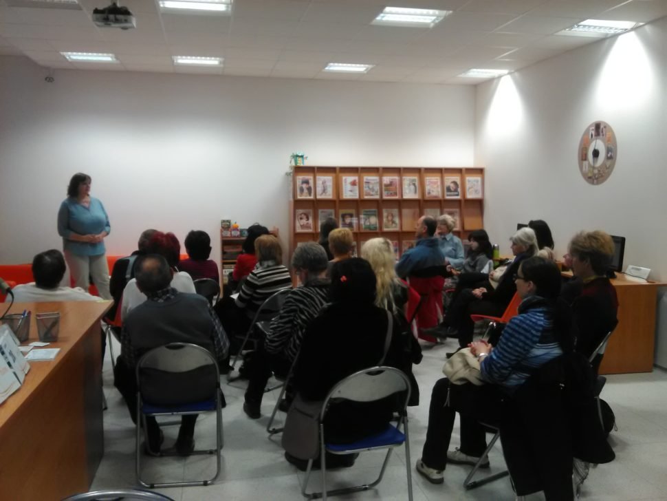 přednáška, knihovna